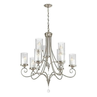 Laurel 9-Light Candle-Style Chandelier Finish: Classic Pewter