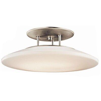 Ara 1-Light Semi Flush Mount Size: 8 H x 20 W