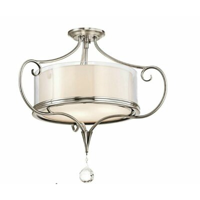 Laurel 2-Light Semi Flush Mount Finish: Classic Pewter
