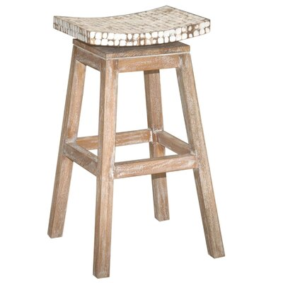 Cordova 30 Swivel Bar Stool Finish: White Wash