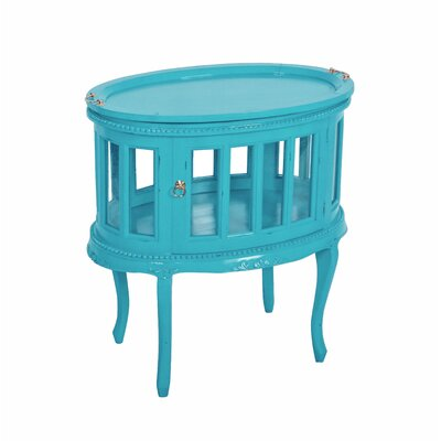 Tahoma Oval End Table Color: Sky Blue