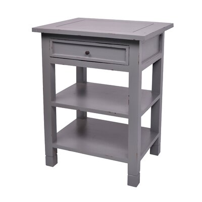 Newton End Table Color: Dark Grey