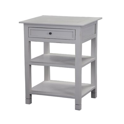 Newton End Table Finish: Light Grey