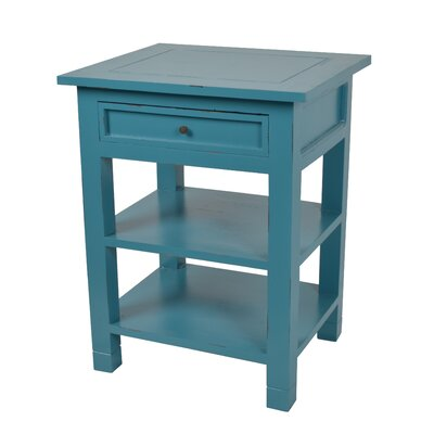 Newton End Table Color: Sky Blue