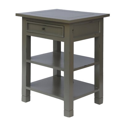 Newton End Table Color: Grey