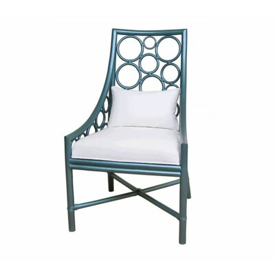 Roman Side Chair Color: Blue Metallic