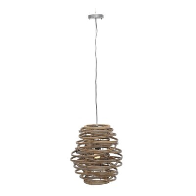 Oceola 1-Light Mini Pendant Color: White, Size: 19 H x 18 W x 18 D