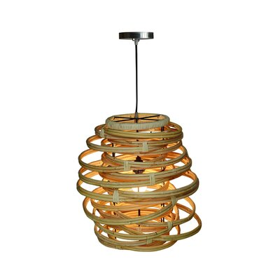Oceola 1-Light Mini Pendant Color: Natural, Size: 19 H x 18 W x 18 D