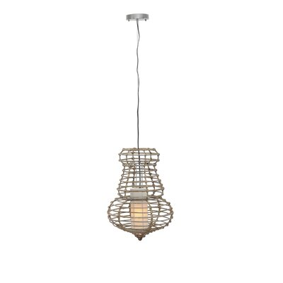 Sienna Foyer 1-Light Pendant Size: Large, Color: Grey