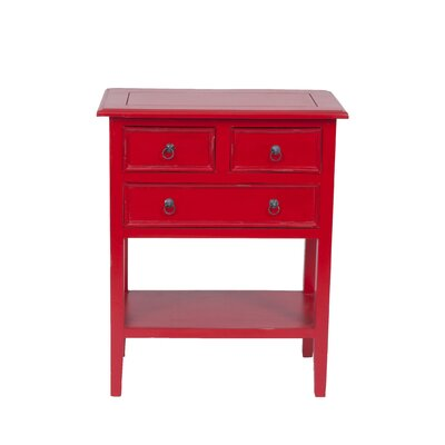 Newton End Table Color: Antique Red
