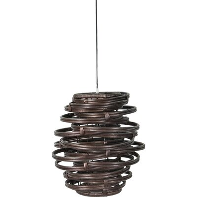 Oceola 1-Light Mini Pendant Color: Brown, Size: 13 H x 20 W x 20 D