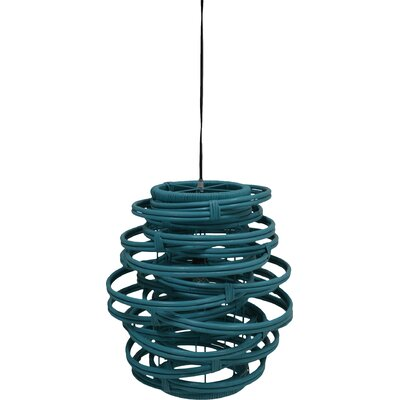 Oceola 1-Light Mini Pendant Color: Sky Blue, Size: 19 H x 18 W x 18 D
