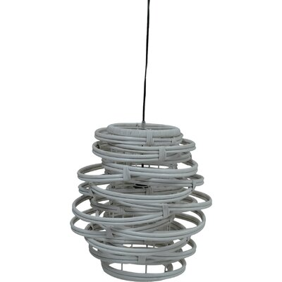 Oceola 1-Light Mini Pendant Color: Grey, Size: 13 H x 20 W x 20 D