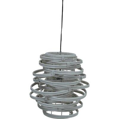 Oceola 1-Light Mini Pendant Color: Grey, Size: 19 H x 18 W x 18 D