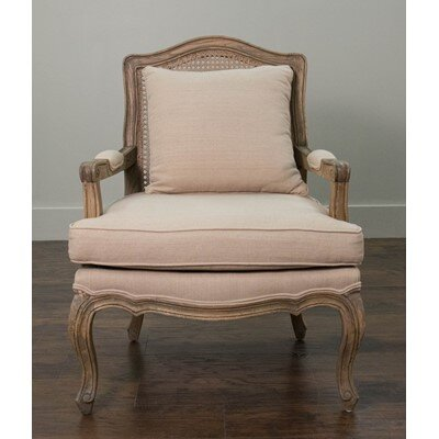 Burgos Teak Arm Chair Upholstery: Natural