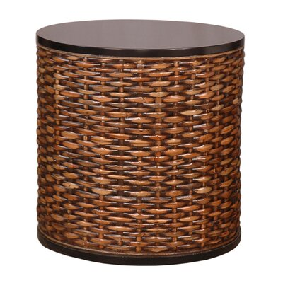 Lina Round End Table Color: Dark Brown