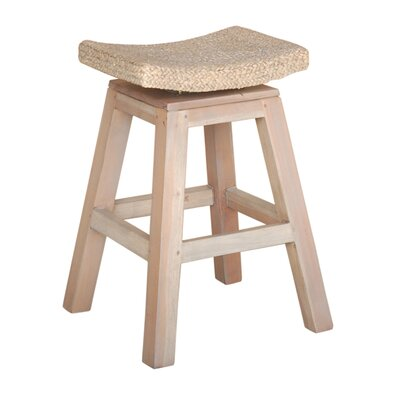 Sanibel 24 Swivel Bar Stool Finish: White