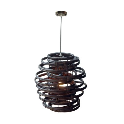 Oceola 1-Light Mini Pendant Color: Nickel, Size: 19 H x 18 W x 18 D