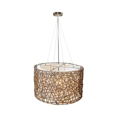 Kobe 1-Light Drum Pendant Size: 13 H x 20 W x 20 D