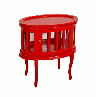 Tahoma Oval End Table Finish: Red