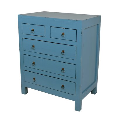 Marvis 5 Drawer Chest Color: Antique Dark Blue