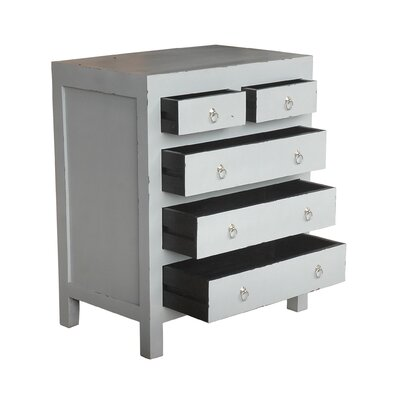 Marvis 5 Drawer Chest Color: Light Grey