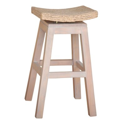 Sanibel 30 Swivel Bar Stool Finish: White