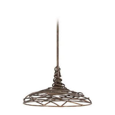 Sanctuary 1-Light Bowl Pendant Size: Small