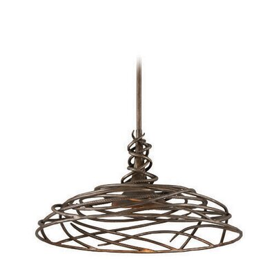 Sanctuary 1-Light Bowl Pendant Size: Medium