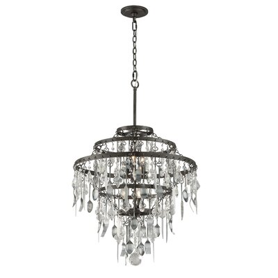 Kirsten 6-Light Crystal Chandelier Size: Medium