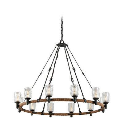 Karsten Industrial 12-Light Kitchen Island Pendant