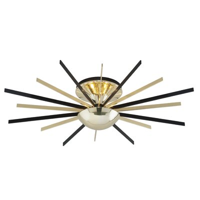 Flippen 1-Light Semi Flush Mount Size: 5.75 H x 25 W x 25 D