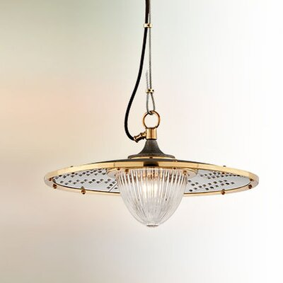 Mervela 1-Light Bowl Pendant Size: Small