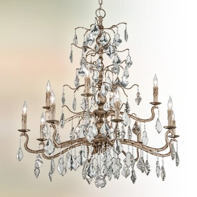 Siena 12-Light Crystal Chandelier