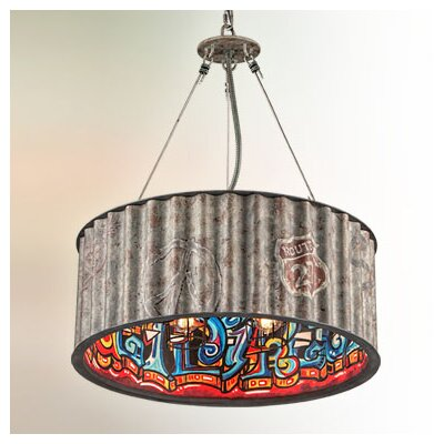 Street Art 5-Light Drum Pendant
