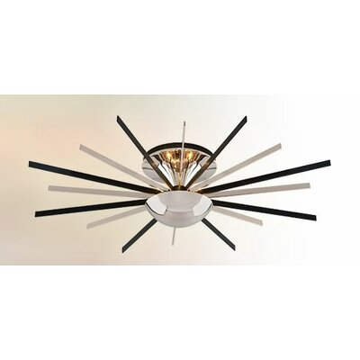 Atomic 8-Light Semi-Flush Mount Size: Medium