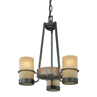 Patton 3-Light Shaded Chandelier