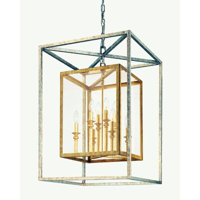 Morgan 8-Light Entry Foyer Pendant Finish: Gold Silver Leaf