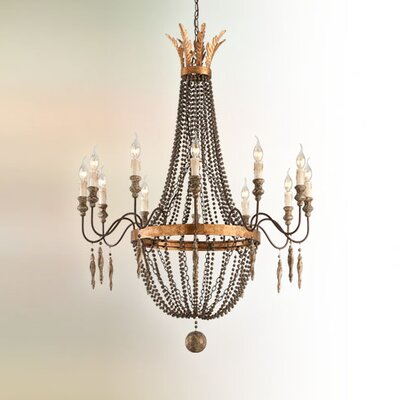 Beamer 12-Light Candle-Style Chandelier