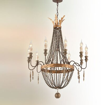 Beamer 10-Light Candle-Style Chandelier