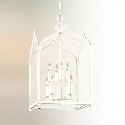 York 8-Light Pendant Finish: White