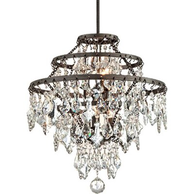 Ailbe 6-Light Hanging Crystal Pendant