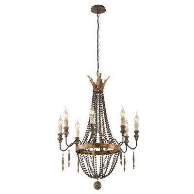 Beamer 8-Light Candle-Style Chandelier