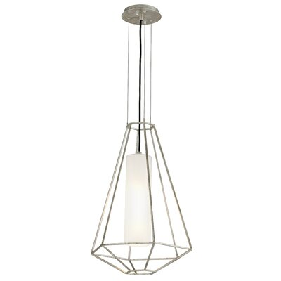 Westerberg 1-Light Metal Pendant Finish: Silver Leaf