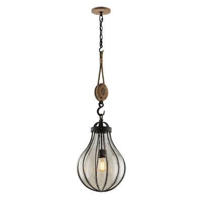 Torrence 1-Light Pendant Size: 40 H x 13.5 W x 13.5 D