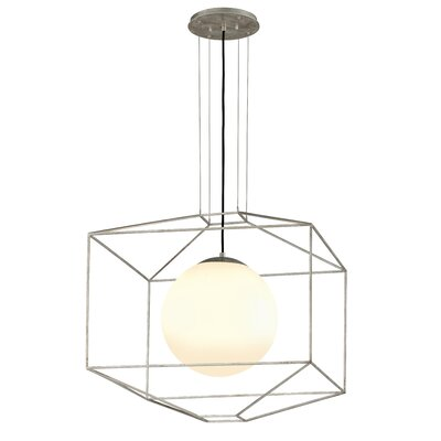 Silhouette 1-Light Foyer Pendant Finish: Silver Leaf