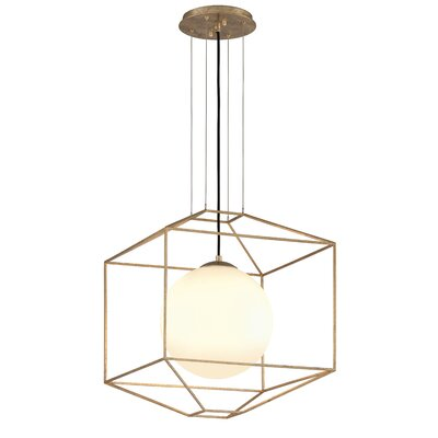 Westerberg 1-Light Foyer Pendant Finish: Gold Leaf