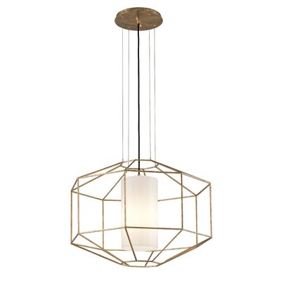 Silhouette 1-Light Pendant Finish: Gold Leaf