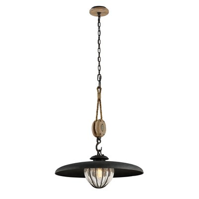 Torrence 1-Light Metal Pendant Size: 28 H x 24 W x 24 D