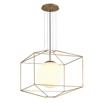 Silhouette 1-Light Foyer Pendant Finish: Gold Leaf